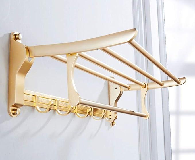 Farbe: # 001 Badregal Wandbehang Gold Europ/äischen Stil Raum Aluminium Falten Handtuchhalter Badezimmer Liefert Lagerung Regale