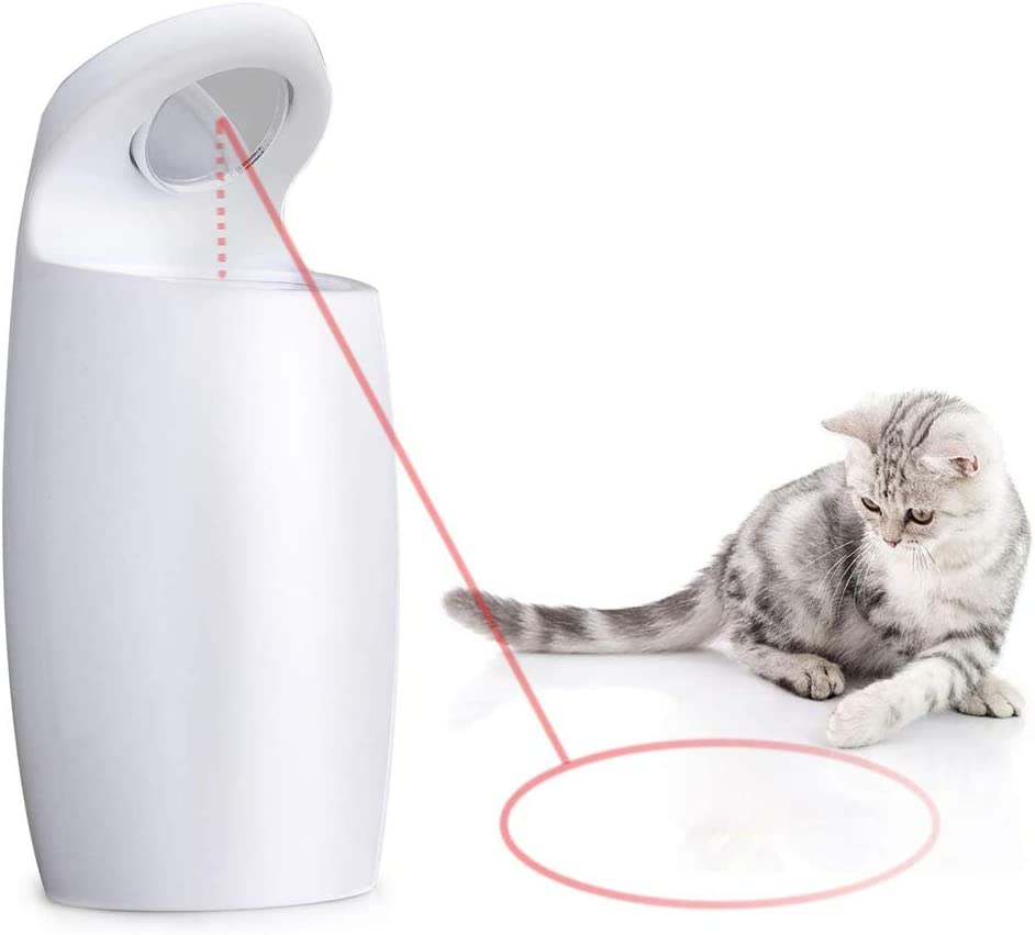 Atpot Cat Toy Automatic, Smart Interactive Toy with Light Dot for Kitten/Dogs- USB Charging,Placing Hign,2 Random Pattern, Adjustable 2 Speeds and Silent, Battery Powered