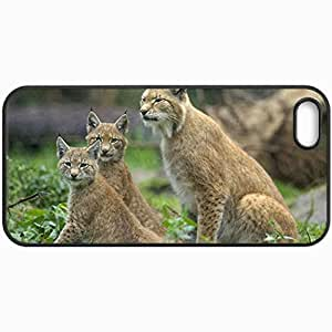 Customized Cellphone Case Back Cover For iPhone 5 5S, Protective Hardshell Case Personalized Lynx Black
