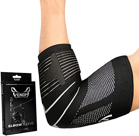 Venom Strapped Elbow Compression Sleeve product image