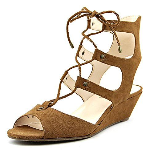 INC International Concepts Womens Mandie Fabric Open Toe Casual Strappy Sandals Toast