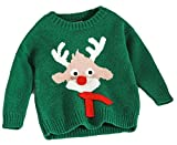 Product review for GAGA Little Girl Winter Textured Christmas Print Knit Sweater