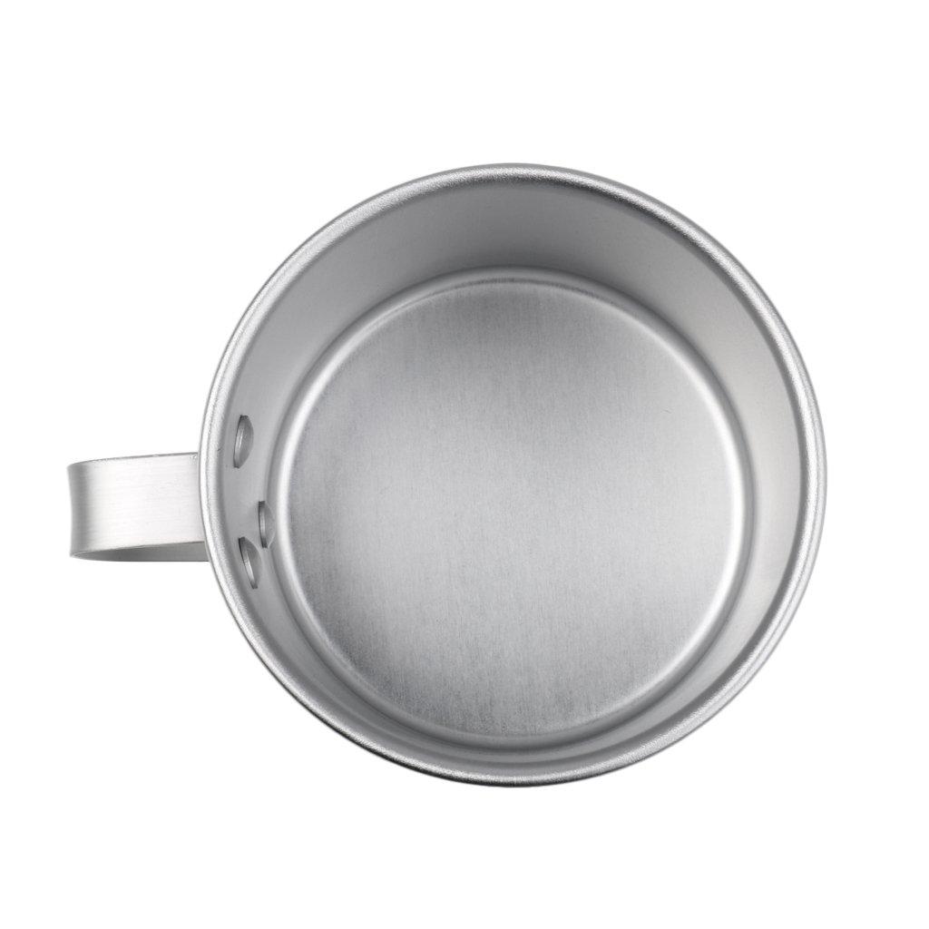 Baoblaze 300ml Campingbecher Kaffee Tee Tasse Aluminium Wassertasse mit Griff