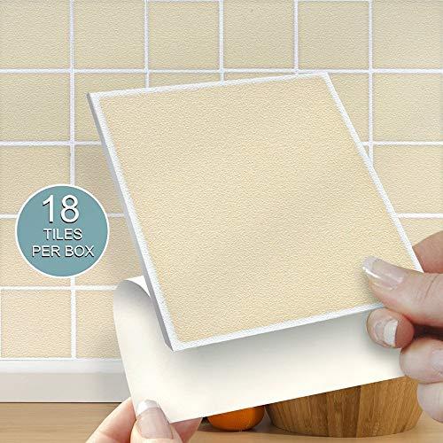 18 Self Adhesive Tiles Stone Tablet Tiles 4 X 4 10cm X 10cm