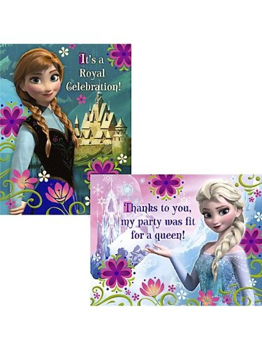Frozen Invitation and Thank You (8 each)