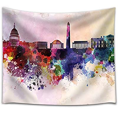 Majestic Handicraft, Colorful Rainbow Splattered Paint on The City of Washington DC, it is good
