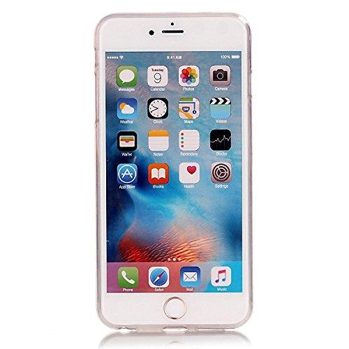 Sunroyal® para iPhone 7 Plus 5.5 Funda Carcasa Case Cover Caja Premium Soft Fusión TPU Gel Elegante Chic y Suave Ultra Delgado Flexible Potectora Pantalla Práctica de Silicona Superior Transparente C B-23