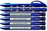 """Best  - Greeting Pen """"Angel"""" Friend Appreciation Pens with Rotating Review"""