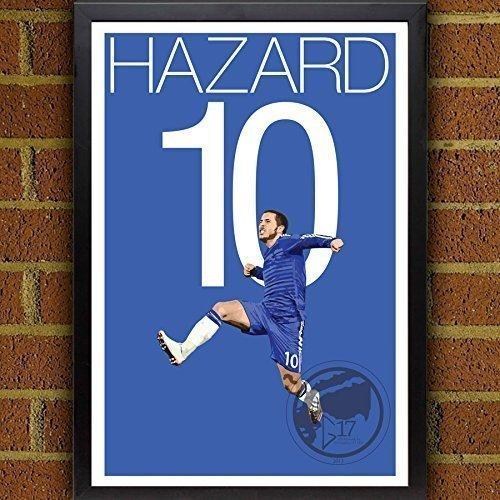 Hazard Goal Poster - Chelsea FC - Belgium Soccer