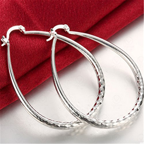 TraveT Earrings Circle Silver Jewelry