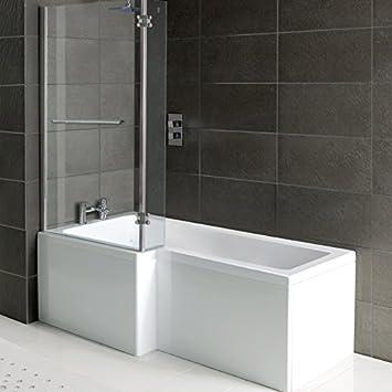 Badezimmer Dusche/Badewanne Matrix, L Form , Front Panel U0026amp; Dusche