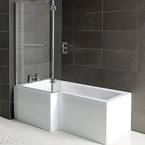 Badezimmer-Dusche/Badewanne Matrix, L-Form , Front Panel &amp ...