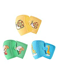 EudoUS 3 Pairs Baby Knee Pads for Crawling Anti-Slip and Protect Infants Toddlers Knees Elbows and Legs