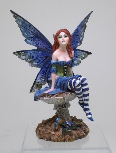 6.25 Inch Bottom of The Garden Fairy on Mushroom Statue Figurine
