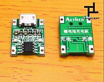 Amazon.com: taida Cargador Micro USB Módulo Batería de litio ...