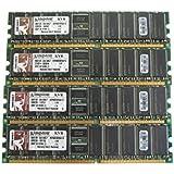 Kingston KVR400D8R3A/1G 1GB PC3200 DIMM DDR-400MHz ECC Reg CL3 184-Pin Memory Pack of 4