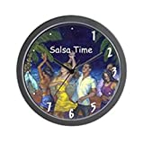 "CafePress - Salsa Time Noche De Salsa - Unique Decorative 10"" Wall Clock"