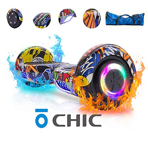 Best Chic Hoverboard with Bluetooth Speaker and LED Lights Self Balancing 6.5