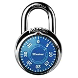 Master Lock 1506D Locker Lock, Combination Padlock, 1 Pack, Blue