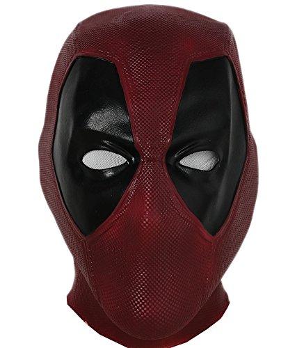 DP Wade Mask Deluxe Latex Cosplay Full Head Helmet Adult Teens (Latex Deadpool Costume)