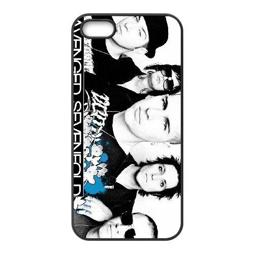 Avenged Sevenfold 002 coque iPhone 4 4S cellulaire cas coque de téléphone cas téléphone cellulaire noir couvercle EEEXLKNBC23220