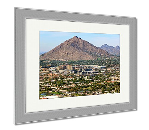 Ashley Framed Prints Camelback Mountain, Wall Art Home Decoration, Color, 26x30 (frame size), Silver Frame, - Malls Scottsdale