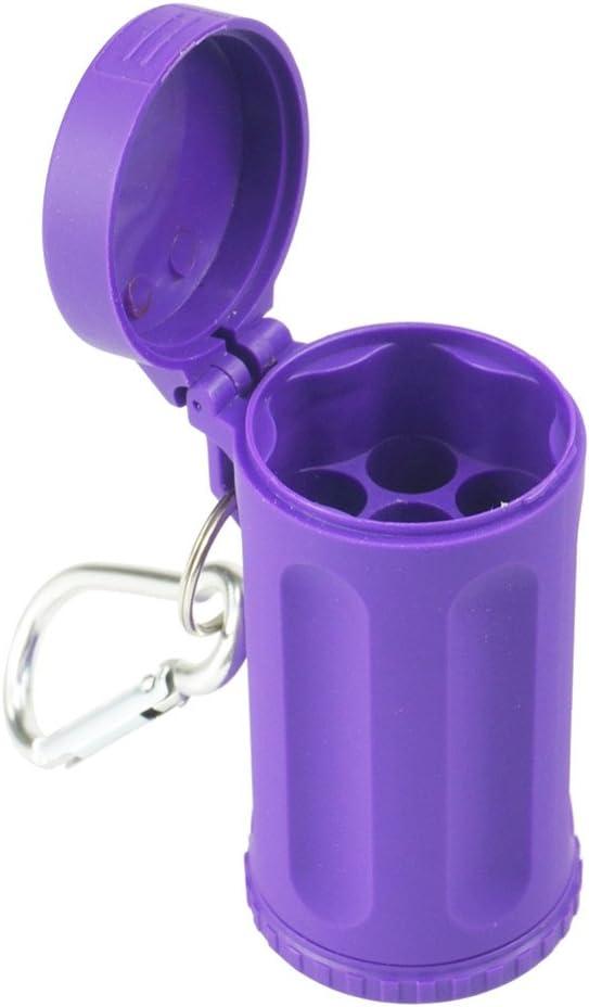 Bleu Mini cendrier Cendrier portable Cendrier de poche anneau porte-cl/és en forme dun cylindre de couleur