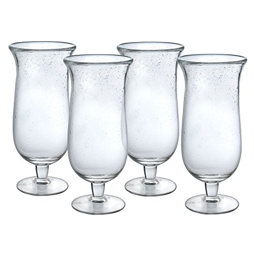 Pfaltzgraff Bubble Footed Iced Beverage Glasses, Set of 4