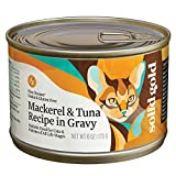 Cheap Solid Gold Five Oceans Mackerel & Tuna in Gravy Holistic Grain Free Canned Cat Food for All Life Stages, 6 oz, Case of 8, 8 X 6 OZ