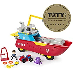 PAW Patrol Sea Patrol - Sea Patroller Transforming Vehicle with Lights & Sounds, Ages 3 & Up