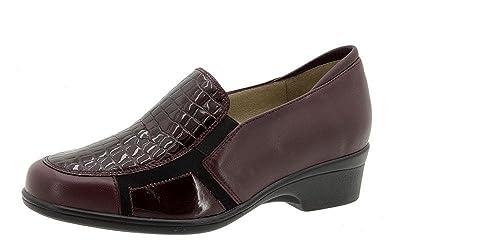 dd441adca71 Zapatos cómodos mujer PieSanto - Plantilla extraible - Elasticos laterales  - Piel combinado con Coco