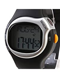 Heart Rate Monitor Watch Calories Counter Silicone Band Digital Military Sport Wristwatches for Men or Women with Chronograph, Alarm, Digital,Pulse Meter, Calendar Stop Watch
