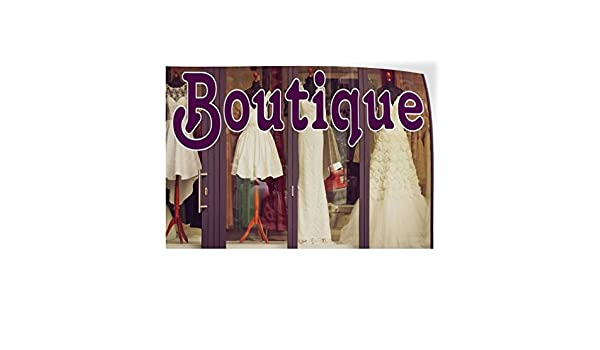 Decal Sticker Multiple Sizes Boutique #1 Style A Retail Boutique Outdoor Store Sign Lavender 52inx34in Set of 2