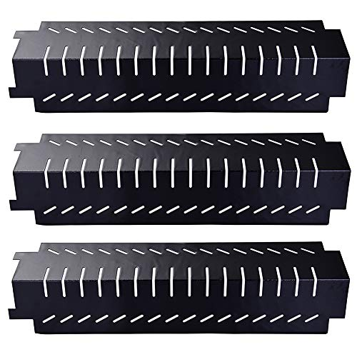 Votenli P9401A (3-Pack) Porcelain Steel Heat Plate, Heat Shield for Centro, Charbroil, Costco, Thermos, Lowes Model Grills(15 x 4 3/16)