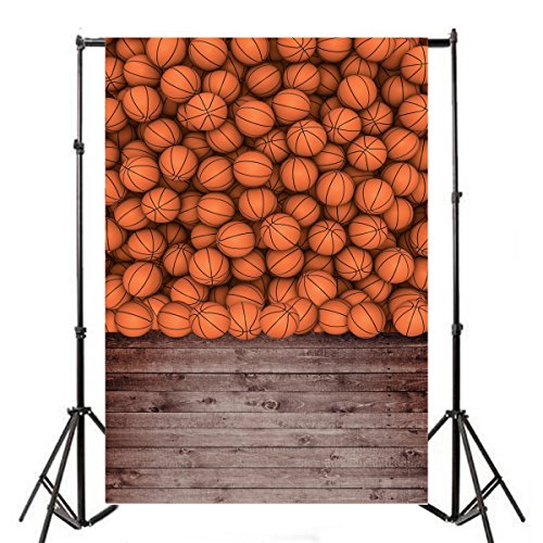 - Yeele 5x7ft Basketball Sports Photography Backdrops Vinyl Children Students Boy Kids Sports Theme Vintage Wood Floor Wall Scene Background Photo Shoot Video Studio Props