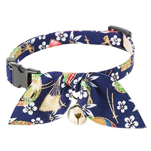 Necoichi Kimono Ribbon Cat Collar (Blue)