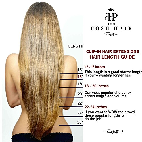 The posh hair hair extensions boutique full head clip in real the posh hair hair extensions boutique full head clip in real remy human hair extensions uk seller many colours 16 inch 1 jet black pmusecretfo Images