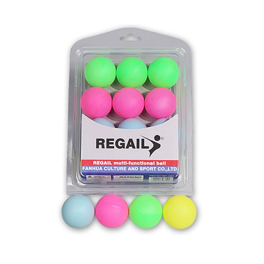 ouken Durable Colorful Ping Pong Palline di Alta Formazione Ping Pong Palle da Tennis Palle Birra Ping Pong colorato Cat Balls 12 PCS