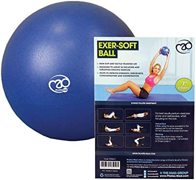 Fitness Mad Pelota, Pilates-Mad 7 Zoll Exer-Soft-Ball, Multicolor, 7 Inch: Amazon.es: Deportes y aire libre