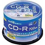 maxell データ用 CD-R 700MB 48倍速対応 インクジェットプリンタ対応ホワイト(ワイド印刷) 50枚 スピンドルケース入 CDR700S.WP.50SP