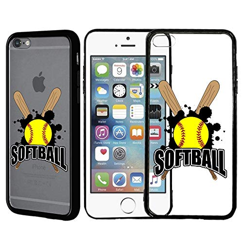 [Inkmodo] Clear TPU Case for iPhone 5 / 5S / SE - Softball Sticks Printed Unique Design Pattern Cover