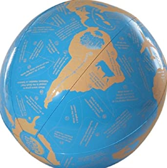 """American Educational Vinyl Clever Catch World Geography Ball, 24"""" Diameter"""