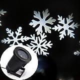 AIBULB®Impermeable Blanco Copos de Nieve Brillante Luz de la Lámpara Del Paisaje Del Proyector para Decoración Al Aire Libre Focos Etapa de Navidad Casa de Vacaciones