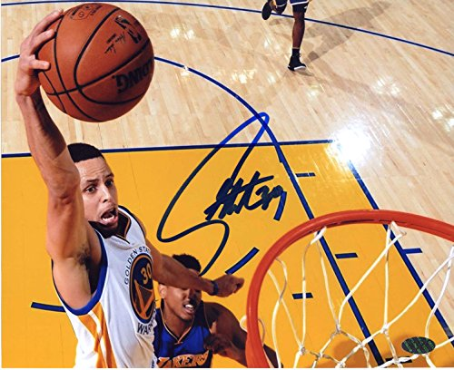 Stephen Curry Golden State Warriors Signed Autographed 8 x 10 Dunking Photo Print PAAS COA by Sports-Autographs