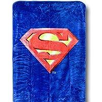 Superman Emblem Queen Size Plush Blanket w/ Area Rug - DC Comics