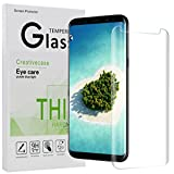 Galaxy S8 Screen Protector,Galaxy S8 Tempered Glass,Creativecase [Case Friendly][Scratch Resistant][3D Curved] HD Clear Glass Screen Protector for Samsung Galaxy S8-Clear
