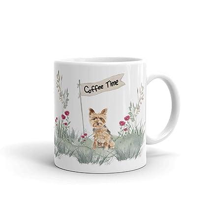 Floral Watercolor Yorkie Coffee Mug