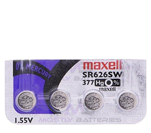Maxell 377 SR626SW 1.55 Volt Silver Oxide Watch Batteries Factory Hologram (4