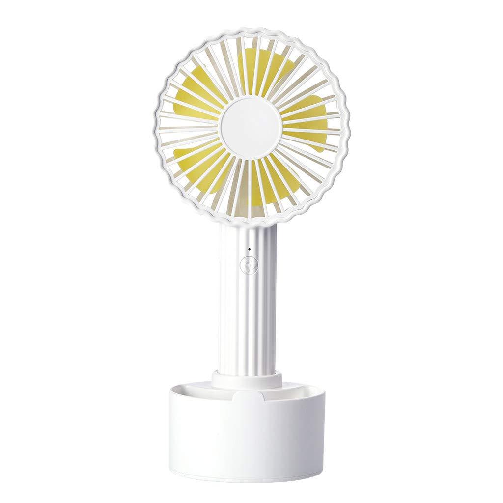 XiongBuy Portable Fan Lightweight Small Portable Fan Cactus Shape Portable USB Cooling Fan Handheld Mini Fan