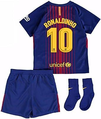 UKSoccershop 2017-18 Barcelona Home Baby Kit (Ronaldinho 10 ...